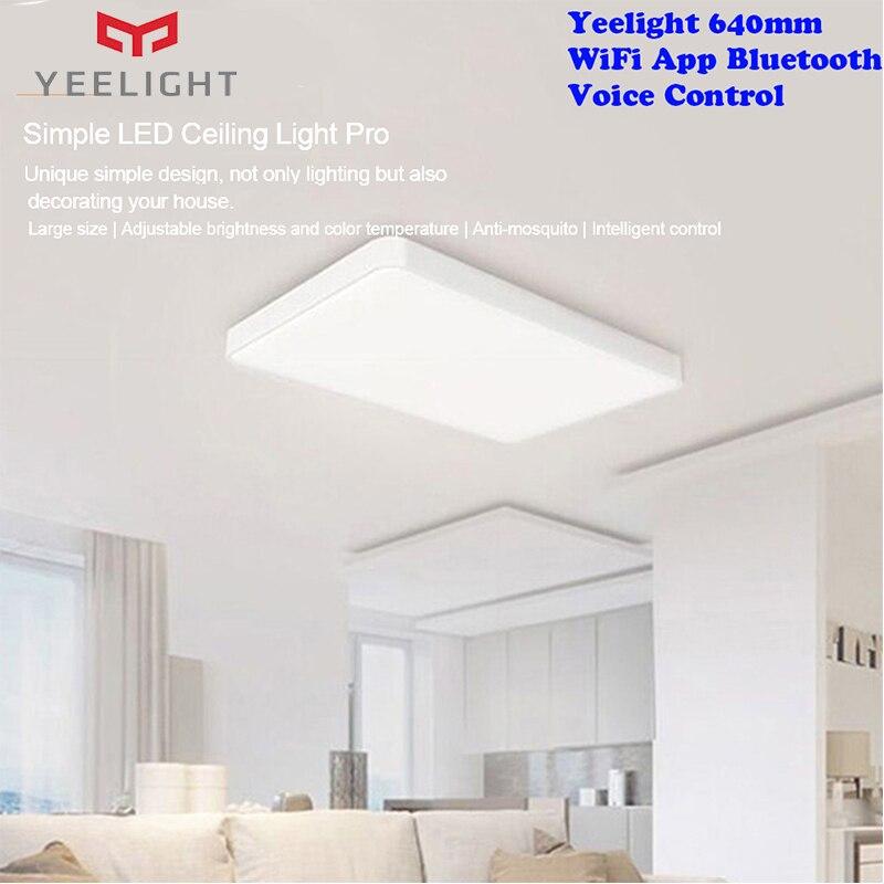 Оригинальный Yeelight Pro JIAOYUE 640 мм простой светодиодный потолочный светильник WiFi приложение Bluetooth умный голосовой пульт дистанционного управле...