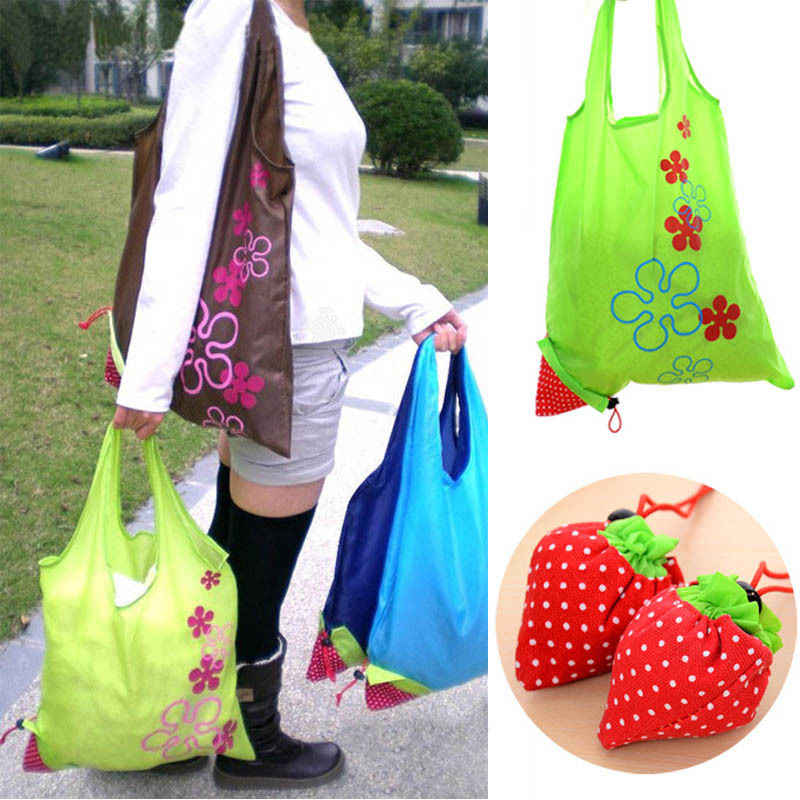 Floral Print Nylon Reusable Foldable Handy Shopping Bag Tote Pouch Recycle Storage Handbags hot Eco Shopping Shopping Tote Bag
