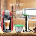 ICafilas для Nescafe Dolce Gusto Crema кофе фильтр-чашка из нержавеющей стали многоразовые кофейные капсулы Pod Dolci Gusto