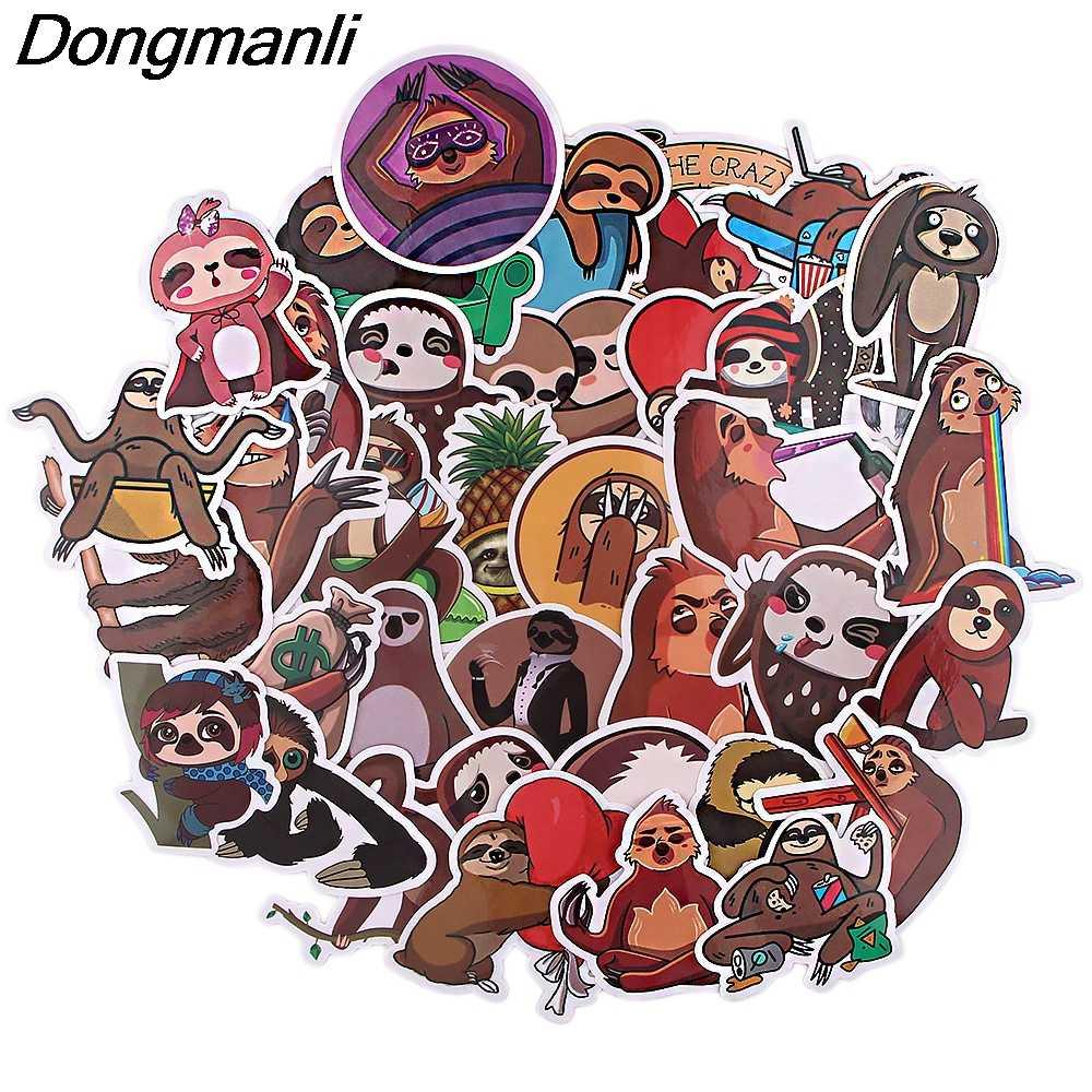 BG149 Dongmanli 36 unids/set pegatinas de dibujos animados mixtos de perezoso lindo para el estilo del coche bicicleta de teléfono para motocicleta laptop equipaje Animal sticker