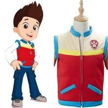 Crianças traje capitão ryder cosplay traje crianças colete outfit halloween carnaval traje feito