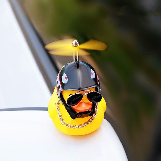 Автомобильные товары, подарок, шлем со сломанным ветром, маленькая Желтая утка, украшение для автомобиля, аксессуары для ветра, украшение для езды на велосипеде 2