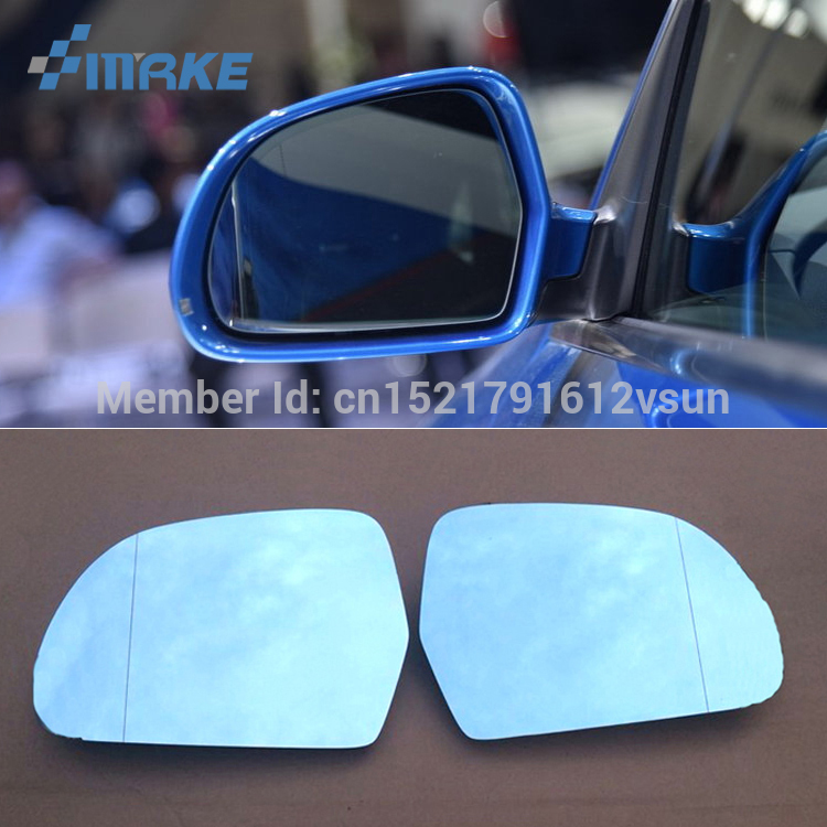 smRKE 2Pcs For Audi Q3 Rearview Mirror Blue Glasses Wide Angle Led Turn Signals light Power Heating title=