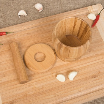 העלי טחינת קערת סט במבוק מכתש ועלי כן קערת שום תבלינים סיר פלפל מיל כלים מטבח כלים