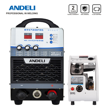ANDELI Digital IIndustry Dual Modules IGBT MIG Lassen welding Machine MIG-350F 380V MMA 2 and 1 Lasser plus wire feeder