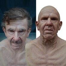 Мама Против Морщин, уход за кожей лица мужчина страшная бабушка дедушка маска для Хэллоуина костюм набор для всей поверхности головы подста...