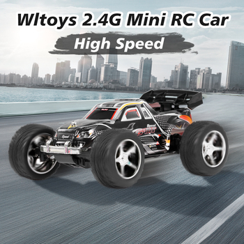 Wltoys 1/43 2019 RC Car 2.4G Mini RC Car Big Foot 20km/h High Speed RC Trunk Gift Toys Remote Control Car for Kids Boys