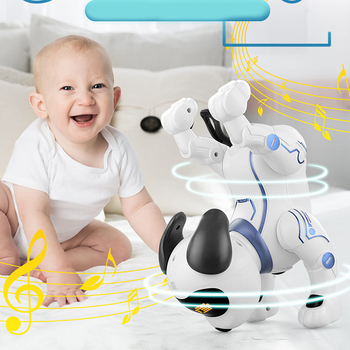 K16A Electronic Pets RC Animal Programable Robot Dog Voice Remote Control Toy Puppy Music Song for Kids Birthday Gift 2