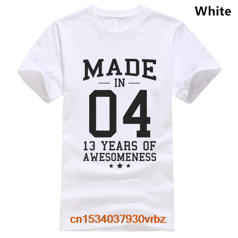 Made In 2004 13 Years Of Awesomeness 13th B-day Teen T-Shirt