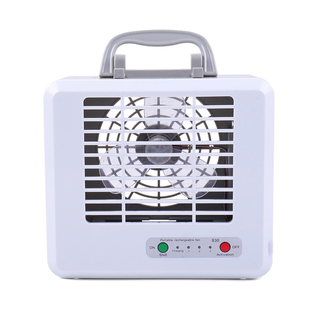 Handheld Mini Fan Square LED Light Hand-held Desk Fan Cooler Handheld Air Conditioner Cooling Fan Summer Air Conditioner Cooler
