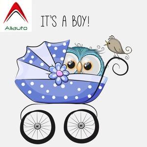 Aliauto Милая Автомобильная наклейка Сова это мальчик на тележке аксессуары украшения ПВХ наклейка для Smart Bmw hyundai I40, 14 см * 15 см
