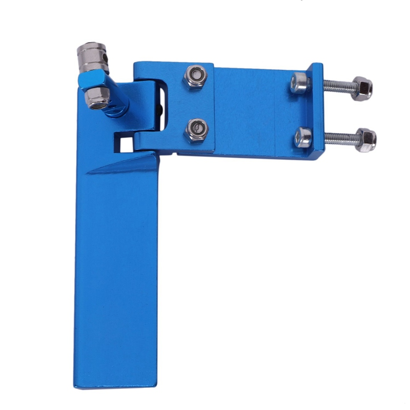 Hot-Aluminum Long Rc Boat Rudder With Water Pickup Absorbing Steering For Electric Gas Remote Control Model Parts Cnc(Blue 75Mm)