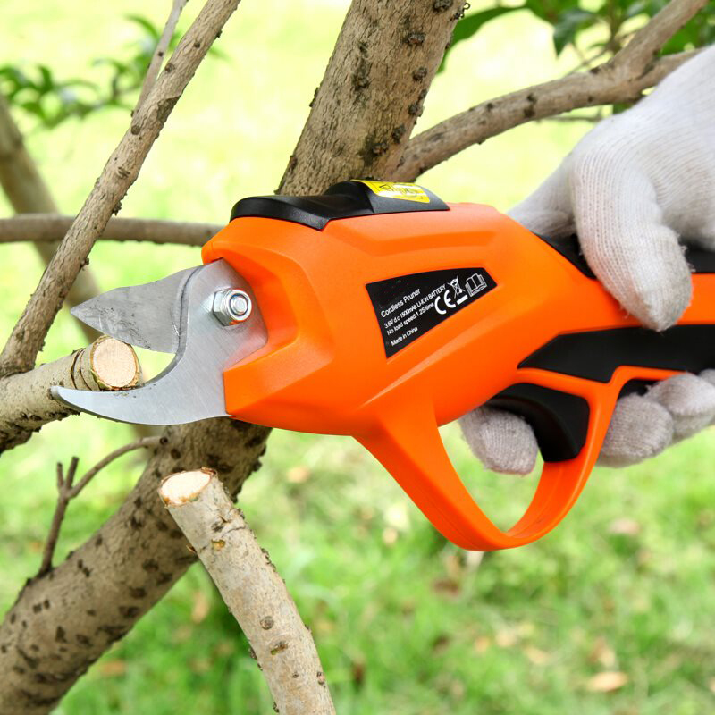 3.6V Battery Portable Cordless Electric Scissors Electric Pruning Shears Cordless Orchard Branches Cutter Garden Pruning Tools