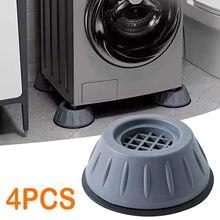 4 pçs universal anti-vibração pés almofadas máquina de lavar esteira de borracha anti-vibração almofada secador geladeira base fixa antiderrapante almofada