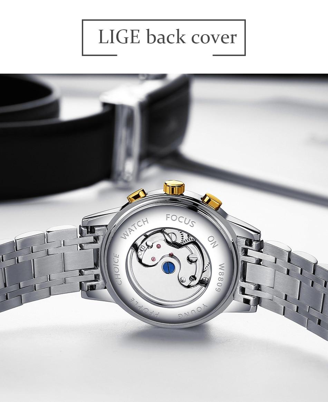 H4599a76ec0254414bed82464da00d3adI LIGE Official Store Mens Watches Top Brand Luxury Automatic Mechanical Business Clock Gold Watch Men Reloj Mecanico de Hombres