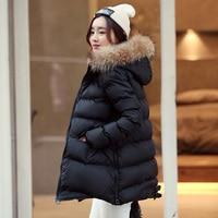 Winter Jacket Women 2020 New Parka Korean Bubble Coat Padded Jacket Raccoon Fur Collar Warm Clothes Parkas MD 001 KJ3551