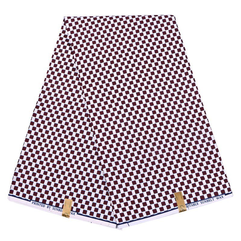 New Wax Fabric Fashion Design African Lattice Real Veritable Guarantee Sunbelt Wax Printed Fabric 6Yards\set