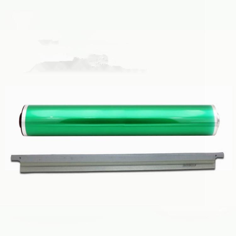1Set/2 pièces. Tambour vert + lame pour Konica Minolta bizhub C6500 C6501 C6000 C7000 C5500 C5501 DU-102 Photo copie cartouche de Toner