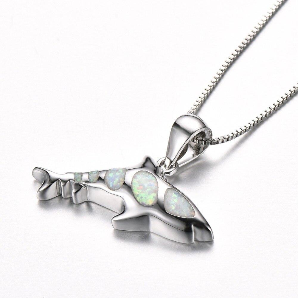 Blauer Opal Shark Haifisch mit Halskette Geschenk -05