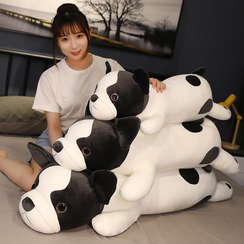 Sexy 80/100/120cm Super Soft French Bulldog Plush Toys Stuffed Down Cotton Cute Lying Dog Doll Pillows Cushions Kids Girls Gifts  - buy with discount