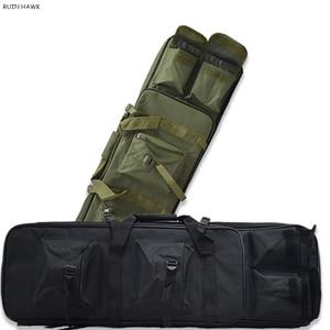 Image 1 - חיצוני צבאי ציד תיק ניילון 81CM טקטי ירי תיק מרובע אקדח תיק יד אקדח אבזר הגנת מקרה תרמיל
