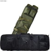 Bolsa de Tiro Militar para caza al aire libre, bolsa táctica de nailon de 81 CM, bolsa de transporte cuadrada, accesorio de pistola de mano, funda protectora, mochila