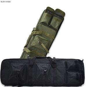 Image 1 - Outdoor Militaire Jacht Schieten Tas Nylon 81 Cm Tactische Zak Vierkante Carry Gun Bag Hand Gun Accessoire Bescherming Case Rugzak