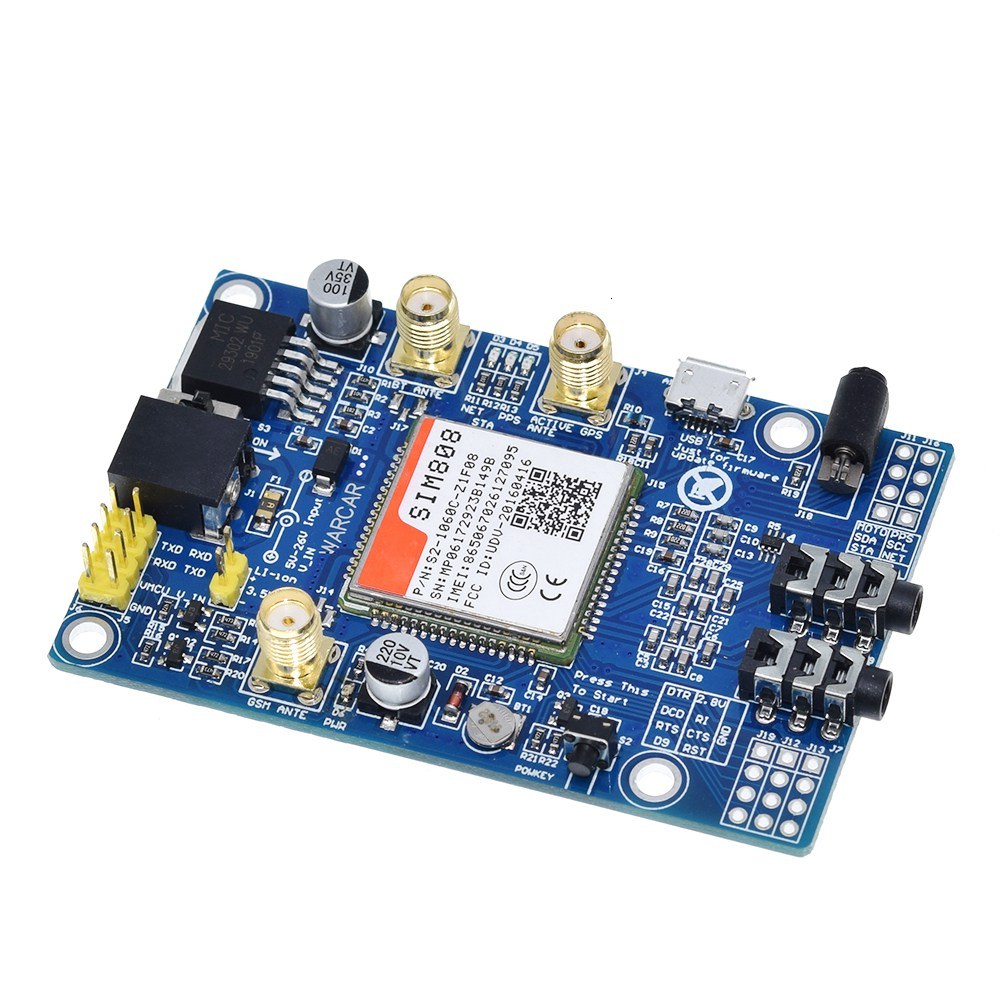Image 3 - SIM808 instead of SIM908 module GSM GPRS GPS Development Board IPX SMA with GPS Antenna available for Raspberry Pi for arduinoIntegrated Circuits   -