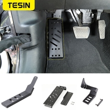 Pedals for Jeep Wrangler JL 2018+Aluminum alloy Car Brake Foot Rest Pedal Pegs Plate Pads Cover For Jeep Wrangler JL Accessories