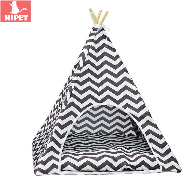 HIPET Cat Dog Tent Nest Pet House For Breathable Removable Washable Small Kitten Puppy Kennel Bed Mat Pad