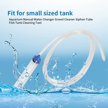 aquarium cleaner fish tank sand cleaner kit with air pressing button and adjustable water flow controller clamp for fish tank Aquarium Clean Vacuum Water Change Gravel Cleaner Fish Tank Siphon Pump Manual Suction Pump Suction Pump Fish Tank Cleaning Tool