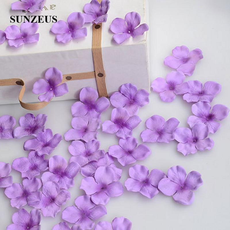 4.5CM Flower Girl Petals Artificial Rose Petals Polyster Cloth Wedding Petals Party Decoration Evening Flowers Accessories SJ007Rose Petals   -