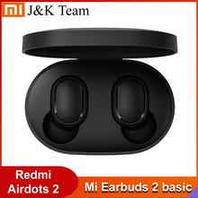 Original Xiaomi Redmi Airdots 2 TWS Xiaomi Earbuds 2 Grundlegende Wireless kopfhörer Airdots 2 Stimme control Bluetooth 5 0 Tap Control cheap In-Ohr Dynamische CN (Herkunft) Nein 120±3dBdB Nonem Für Handy Sport Benutzer Manuelle Lade fall Austauschbare Pads Set