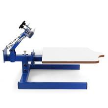 Printing Screen Printing Machine Monochrome Manual Printing Machine Handprint Table T-shirt Clothes Non-woven Bag Countertop недорого