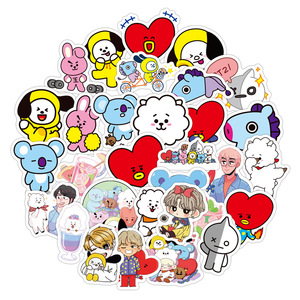 Many styles cartoon kpop stickers PVC naklejki waterproof pull rod boxes pegatinas for motorcycles and cars graffiti sticker