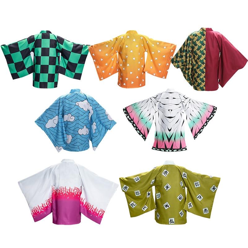 Demon Slayer: Kimetsu No Yaiba Mens Kamado Tanjirou Cosplay Cape Costumes Zenitsu Giyuu Cape Clothing For Plush Stuff