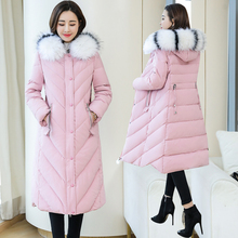 Winter Jacket Women Fur Hooded Parka Long Coat Korean Cotton-padded Parkas Puffer Plus Size