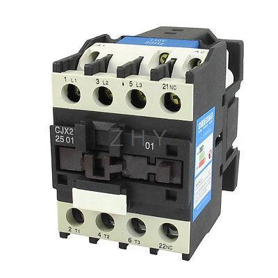 660V 40A 3 Phase 3P NO AC Contactor DIN Rail Mount 110V Coil CJX2-2501