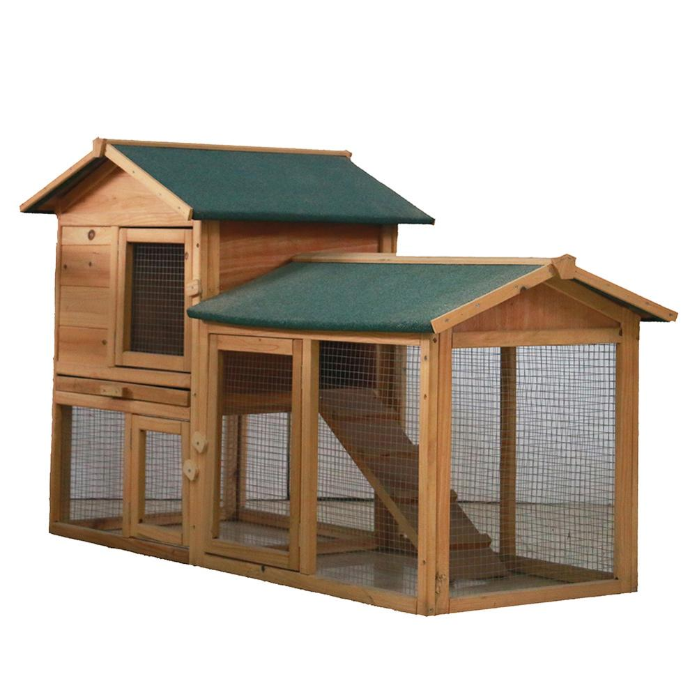 58 Inch Chicken Coops Rabbit Hutch Cage Hen Wooden House Animal Backyard Outdoor
