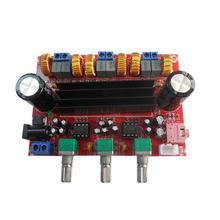 Плата цифрового усилителя мощности TPA3116D2 2,1, постоянный ток 24 В, 50 Вт, 2 + 100 Вт, 3 канальный модуль усилителя для динамика 4 8 Ом