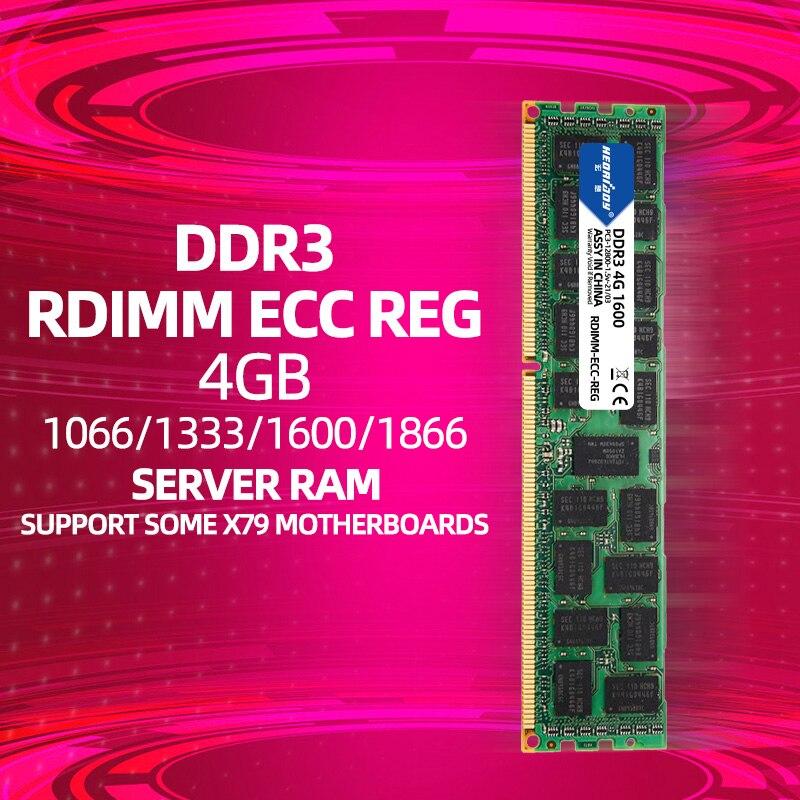 4GB DDR3 ecc reg ram PC3 1066Mhz 1333Mhz 1600Mhz 1866Mhz 10600R 12800R 14900R 1866 1600 compatible 16GB 8GB 1
