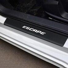 Adesivi per pellicole per pedali di benvenuto per portiera per auto FORD ESCAPE fibra di carbonio antigraffio nessuno antiscivolo davanzale adesivi interni Scuff