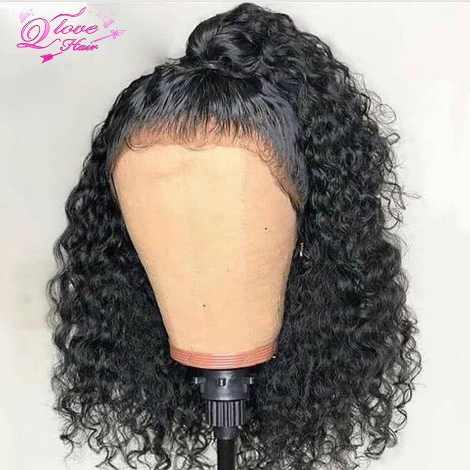 Full Lace Human Hair Wigs For Women Kinky Curly Human Hair Wig Glueless Full Lace Wigs Lace Frontal Brazilian Wig 150% Density