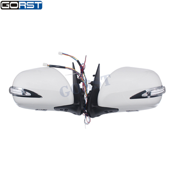 Accessories Car-Styling Electric Reflector Rearview Mirror Side Mirror Exterior With Led Light For Toyota Hiace 200 2005-2015