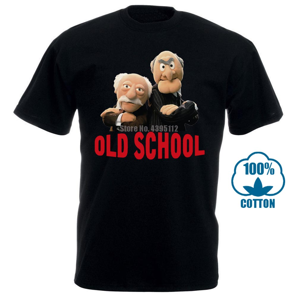 Men T Shirt Muppets Grandmasters Waldorf Statler Old School Graphic Funny T Shirt Novelty Tshirt Women 012425