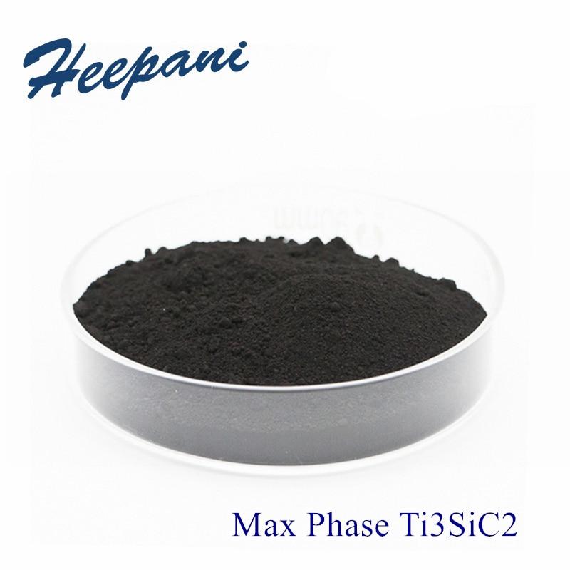 Free Shipping High Purity MAX Phase Ti3SiC2 Powder 200mesh - 500mesh Advanced Ceramic Titanium Silicon Carbide For Mxene Ti3C2