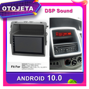 Frame android 10.0 car dvd pla