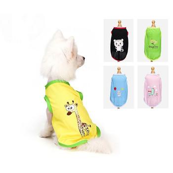 Letnie ubrania dla psów dla małych psów koszula odzież Cartoon strój dla szczeniaczka dla kamizelka dla psów odzież dla kostium dla psa chihuahua produkty dla zwierzaka domowego tanie i dobre opinie HJKL Wiosna lato 100 bawełna
