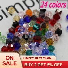 Купите 1 и получите 1 бесплатно! Хрустальные биконусные бусины высшего качества стеклянные бусины для одежды, браслеты ожерелья Аксессуары