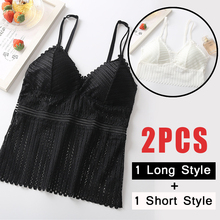 Lace Vest Tops Women Padded Underwear Lingerie Tank-Top Camisoles Chest V-Neck Sexy Summer